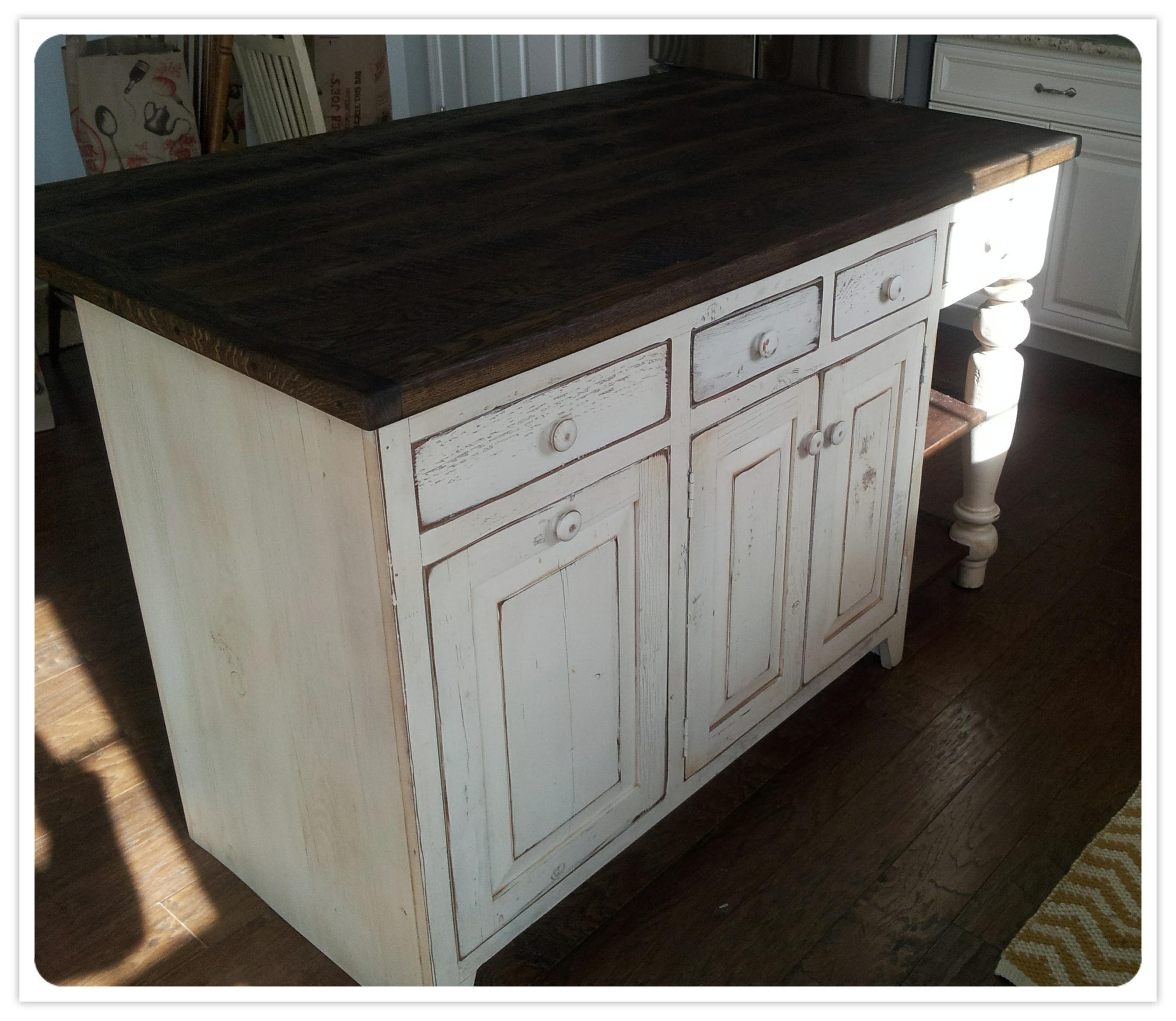 6 Ft Kitchen Island: Reclaimed Wood Kitchen Island