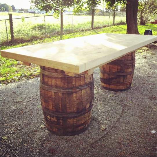 Wine Barrel Table Reclaimed Wood Furniture Ideas